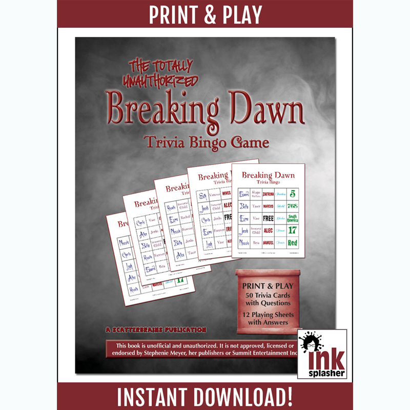 Breaking Dawn Trivia Bingo
