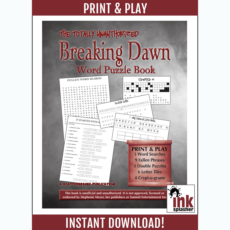 Breaking Dawn Word Puzzles