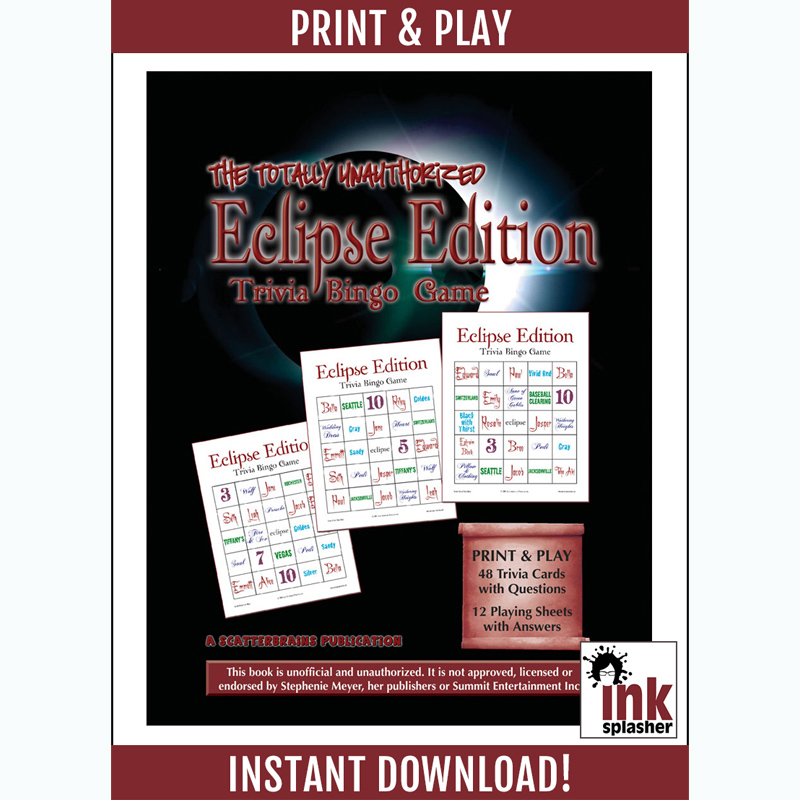 Eclipse Trivia Bingo Printable